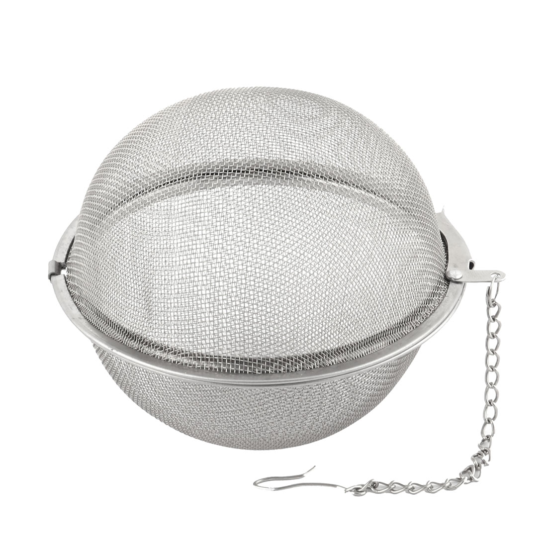 Stainless Steel Brewing Tea Leaves Mesh Locked Infuser Stainer Filter 7cm Dia