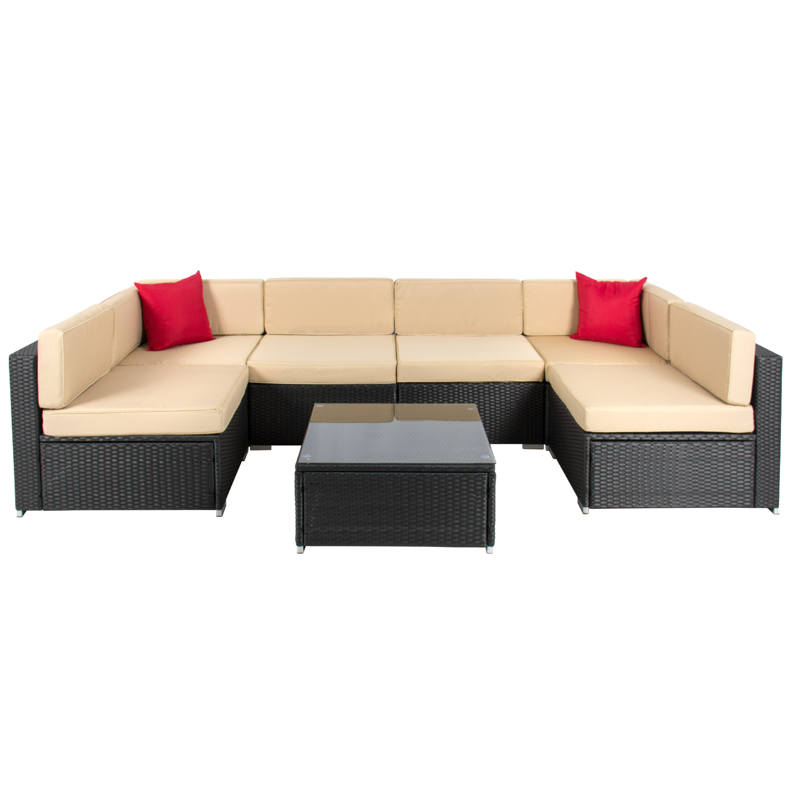 Sofa Furniture best choice products 7pc outdoor patio garden wicker furniture