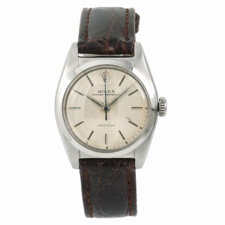 Pre-Owned Rolex Oyster Perpetual 6050 Steel  Watch (Certified Authentic &