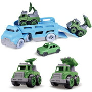 Take Apart Carrier Truck Toy with 3 Pack Mini Cars Toys for 2 3 4 5 Year Old Boys F-451