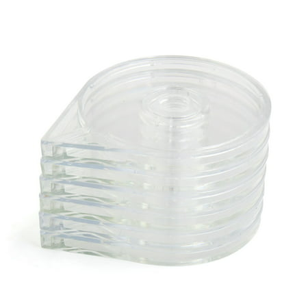 6pcs Clear Women Nail Art Beauty Striping Tape Line Case Tool Roller Box Holder - image 2 of 2