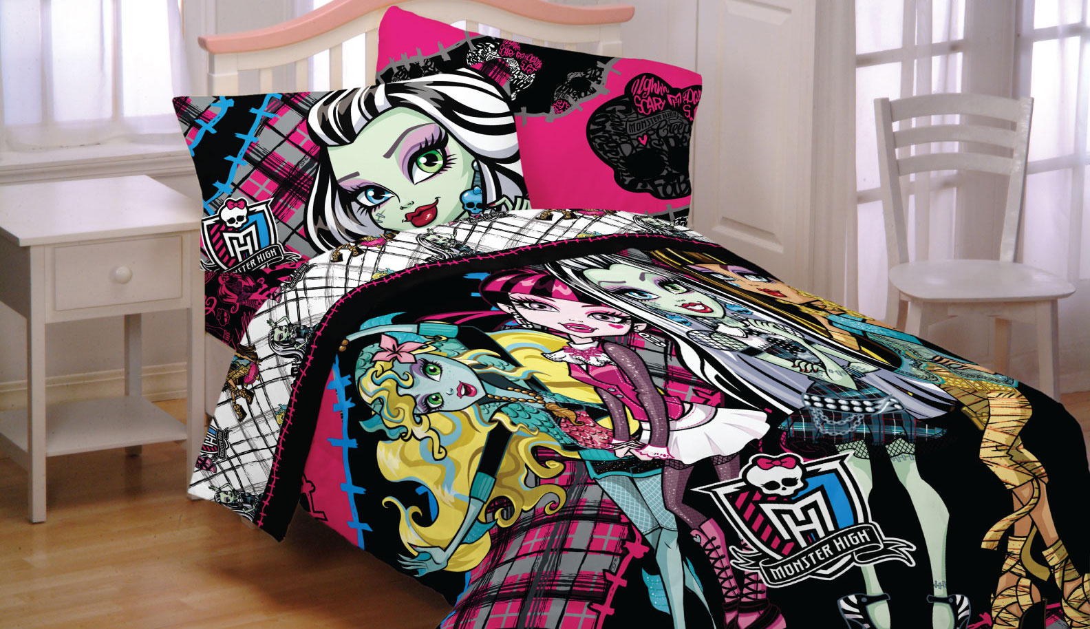 Monster High Right to Fright Sheet Set, Black - Walmart.com