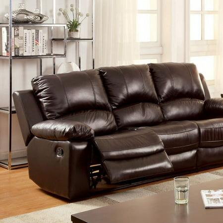 Benzara Transitional Sofa Dark Brown