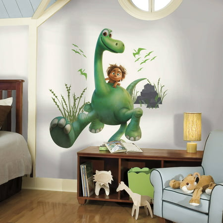 arlo the good dinosaur peel and stick giant wall decals - walmart