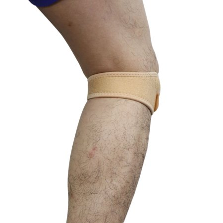 06c2d14ce1 Skin Color Hook Loop Closure Knee Brace Support Patella Protective Band -  image 1 of 4 ...