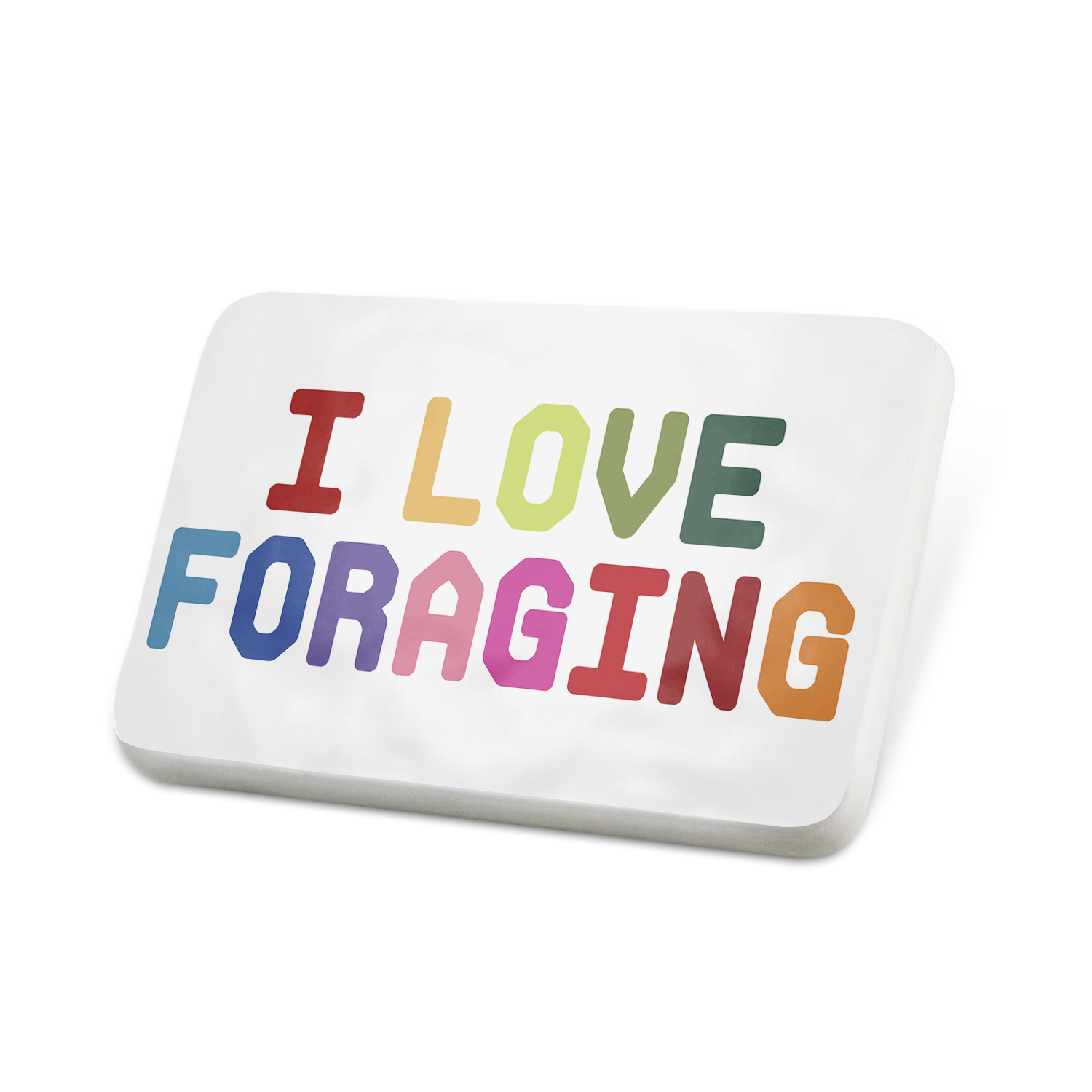 Porcelein Pin I Love Foraging,Colorful Lapel Badge – NEONBLOND