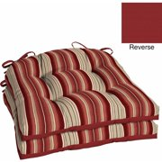 Better Homes and Gardens Outdoor Patio Reversible Wicker Seat Cushion, Set of 2, Multiple Patterns