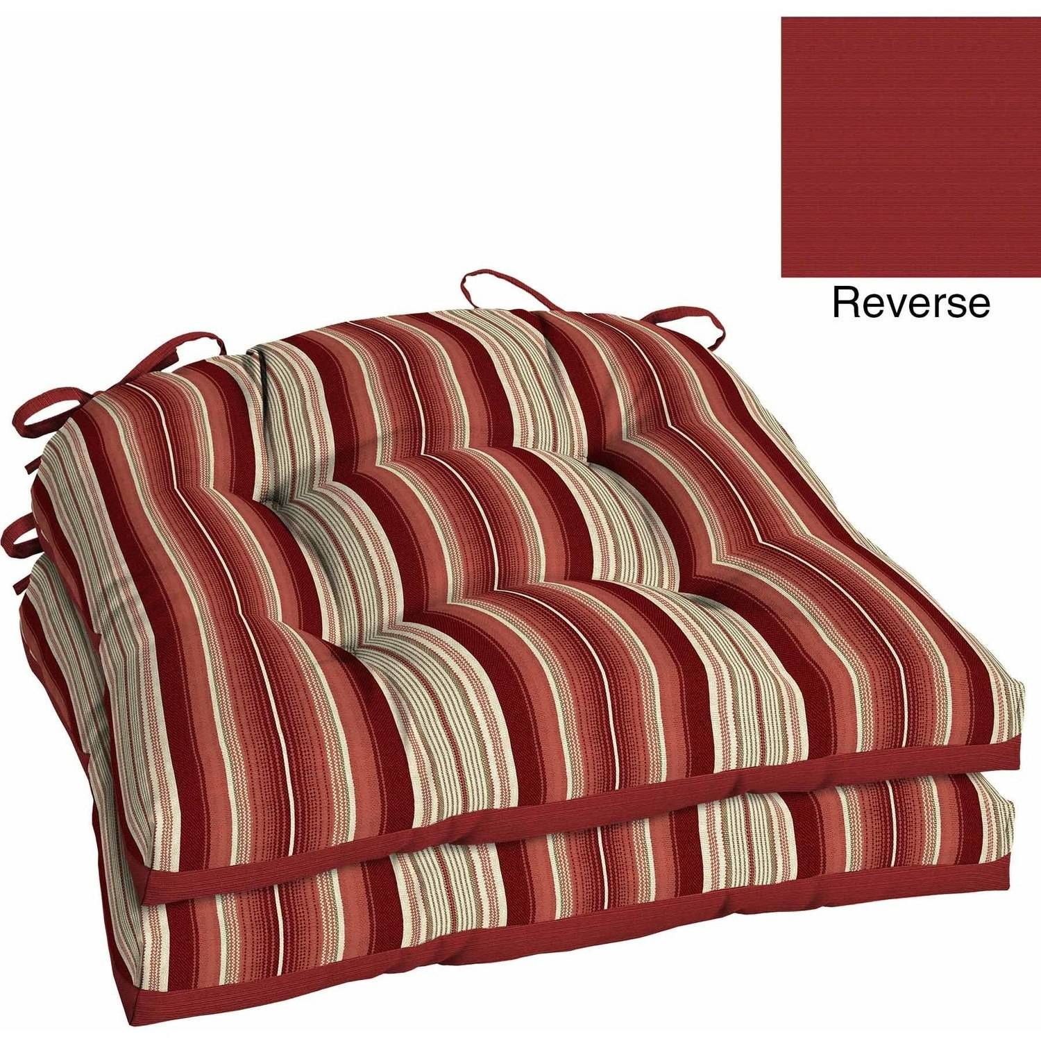 Better Homes And Gardens Outdoor Patio Reversible Wicker Seat Cushion, Set  Of 2, Multiple