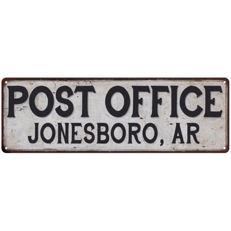 JONESBORO, AR POST OFFICE Vintage Look Metal Sign Chic Retro 6182533](Halloween Jonesboro Ar)