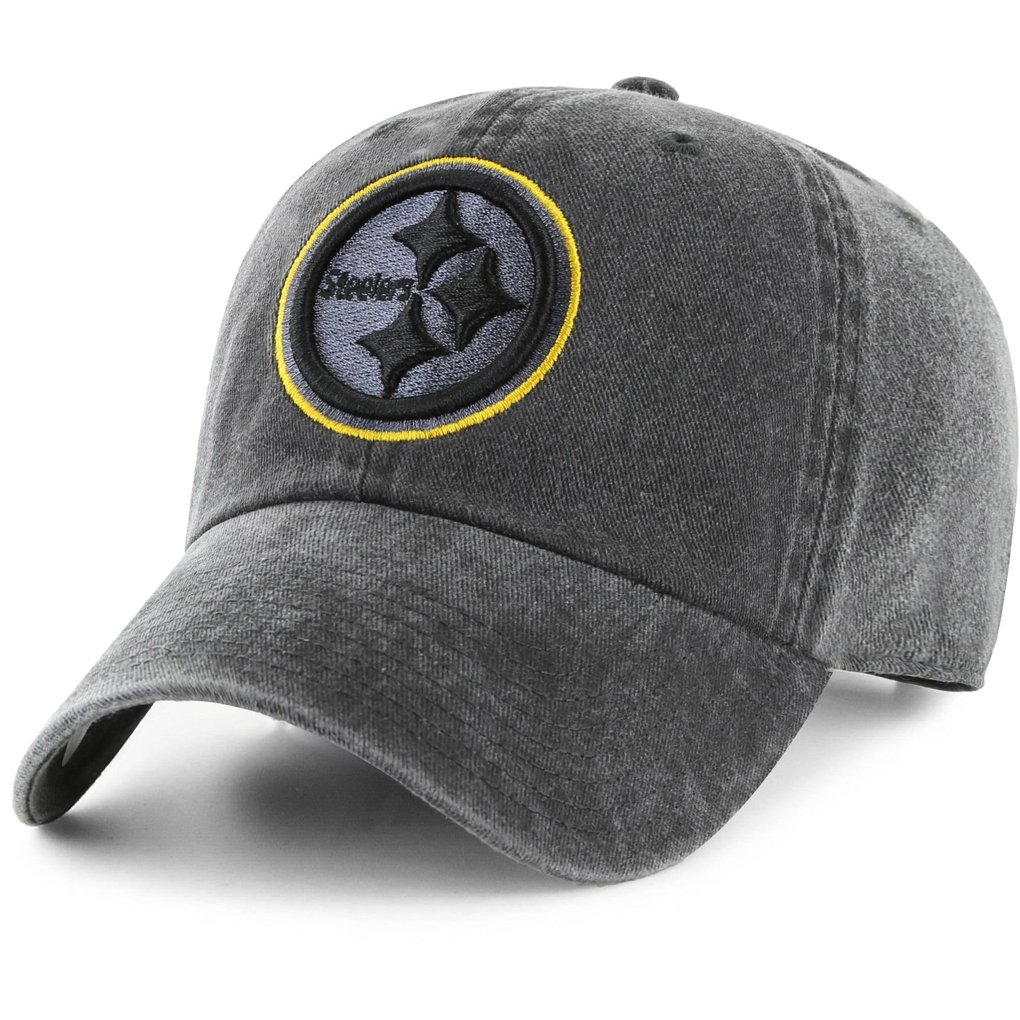 Men's Fan Favorite Black Pittsburgh Steelers Mass Matter Adjustable Hat - OSFA