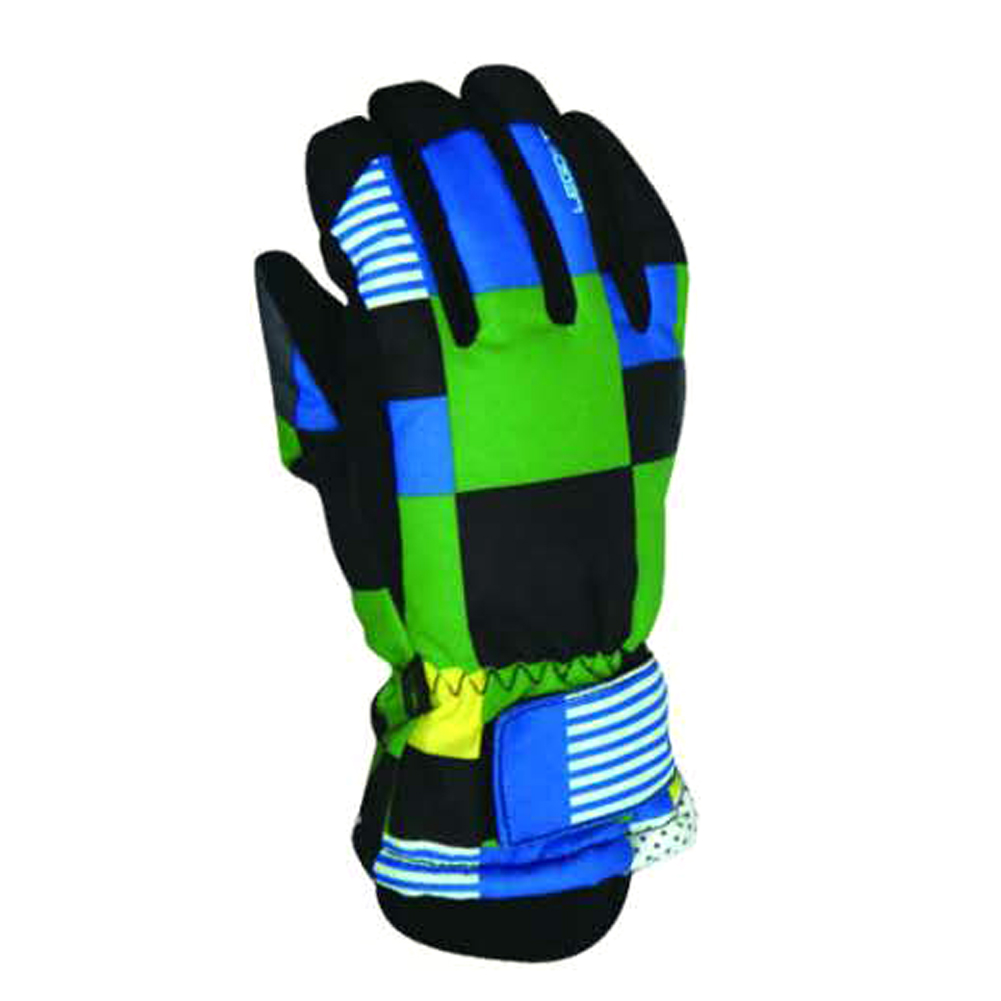 Children Outdoor Polyester Fiber Warm Windproof Anti-Slip Wear-Resistant Gloves for Riding Skiing by