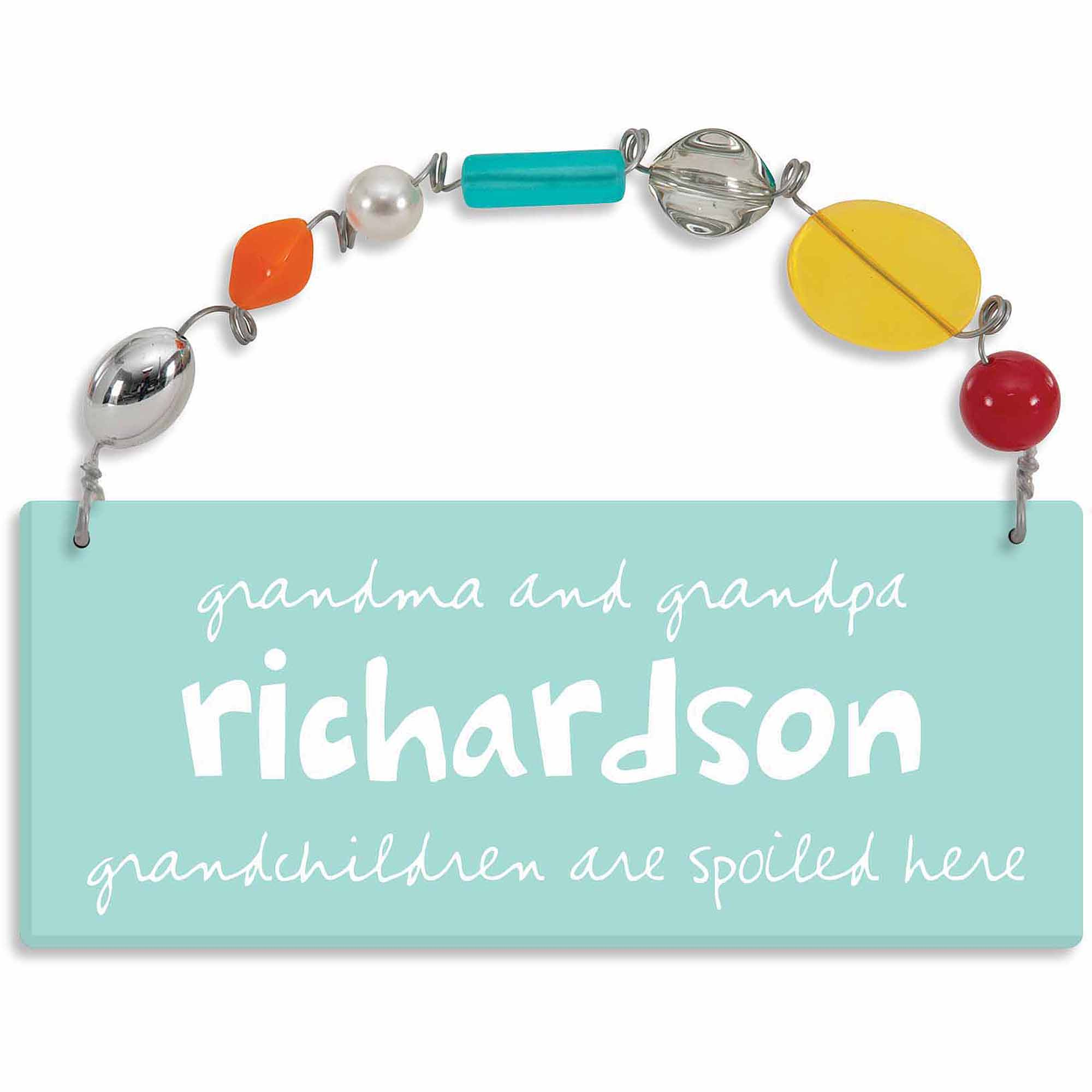 Personalized Sandra Magsamen Grandchildren Are Spoiled Here Wall Plaque