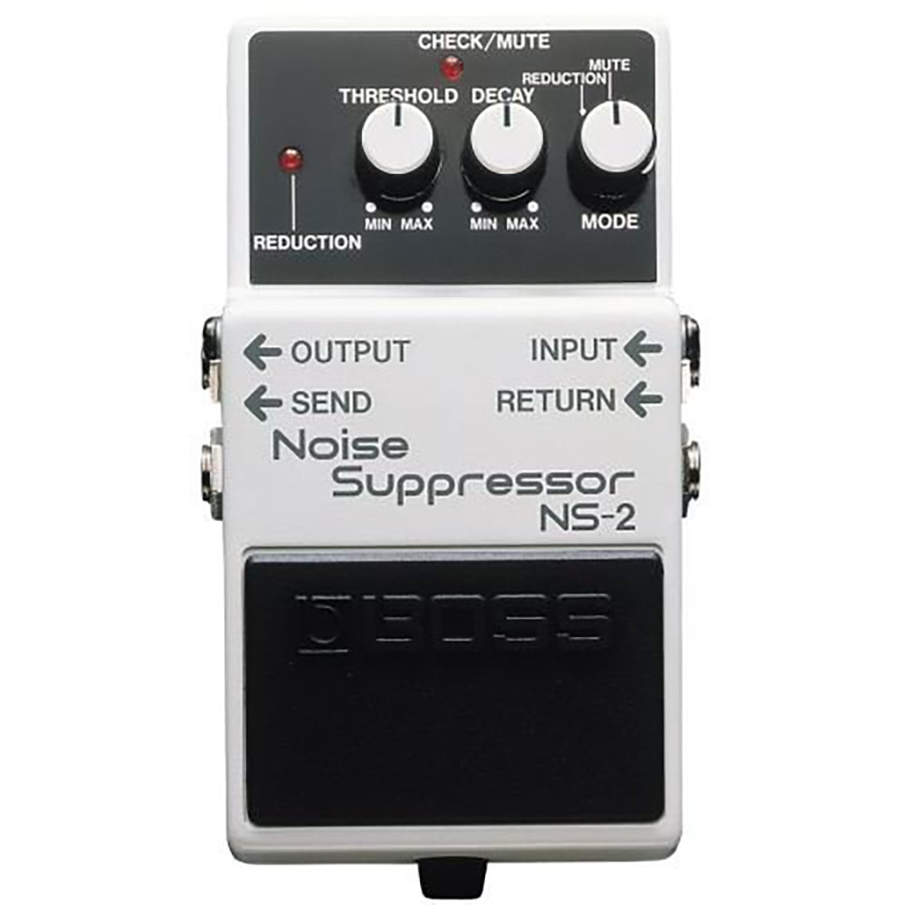 Boss NS-2 Electric Guitar Single Effect Noise Suppressor Guitar Pedal, White