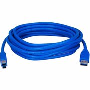 QVS 15ft USB 3.0/3.1 Compliant 5Gbps Type A Male to B Male Blue Cable