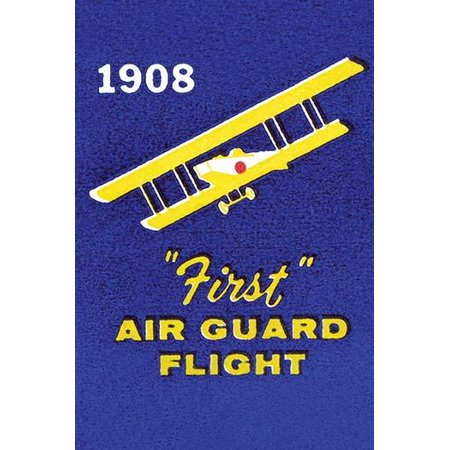 A matchbook cover commemorating the start of the air national guard Poster Print by unknown