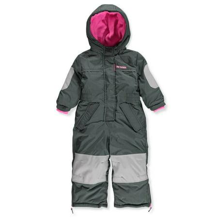 Girls Snowsuit (Pink Platinum Baby Girls' 1-Piece Snowsuit)
