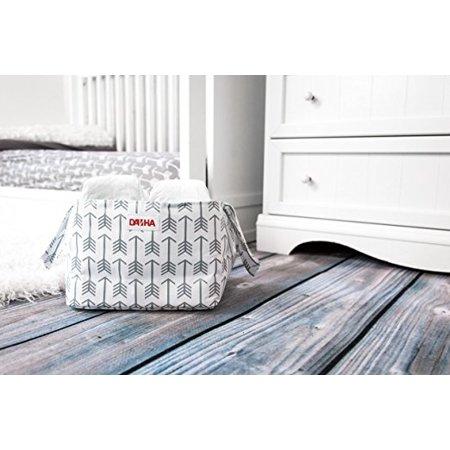Danha Diaper Storage Caddy White with Grey Arrow Pattern