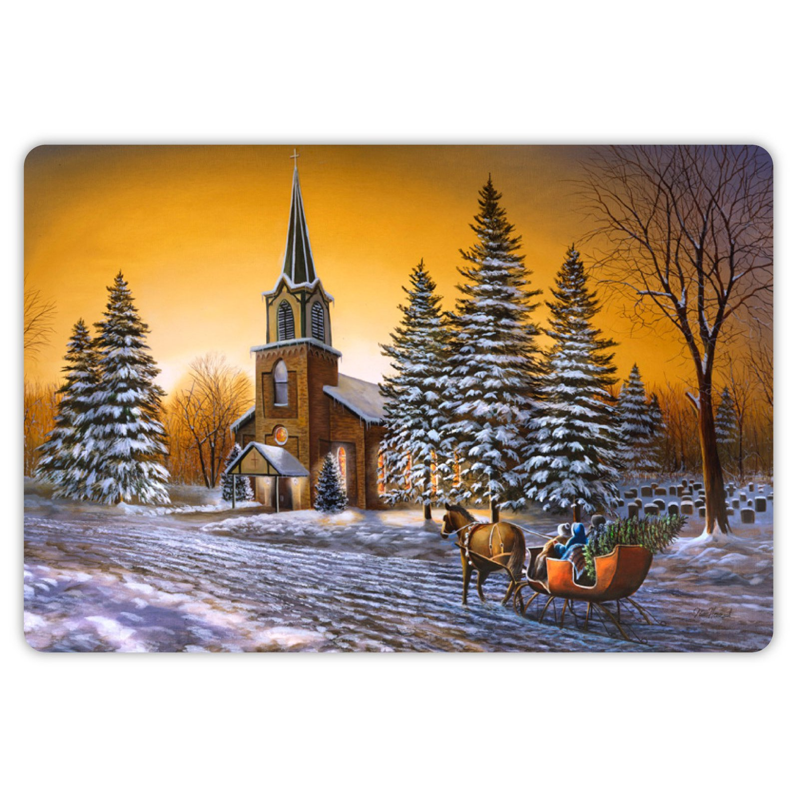 Drymate Winter Collection Welcome Mat - Cherished Moments