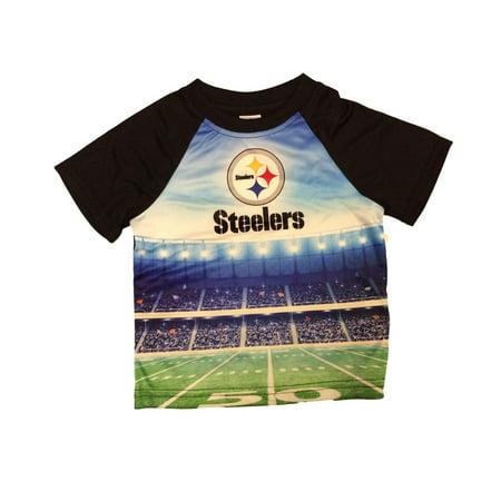 NFL Kids Short Sleeve Stadium Tee T-Shirt Pittsburgh Steelers