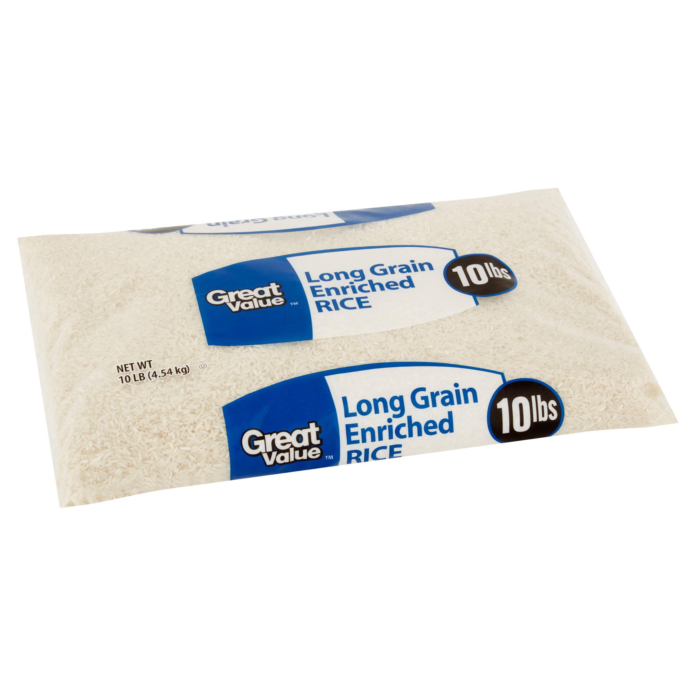 Great Value Long Grain Enriched Rice, 10 lb - Walmart com