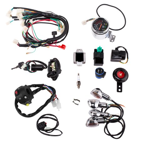 Full Electric Start Engine Wiring Harness Loom for 110cc