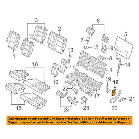 Jeep CHRYSLER OEM Grand Cherokee Rear Seat-Hinge Pivot Cover Right 1TM68HL1AA 2006 Jeep Grand Cherokee Seat Covers