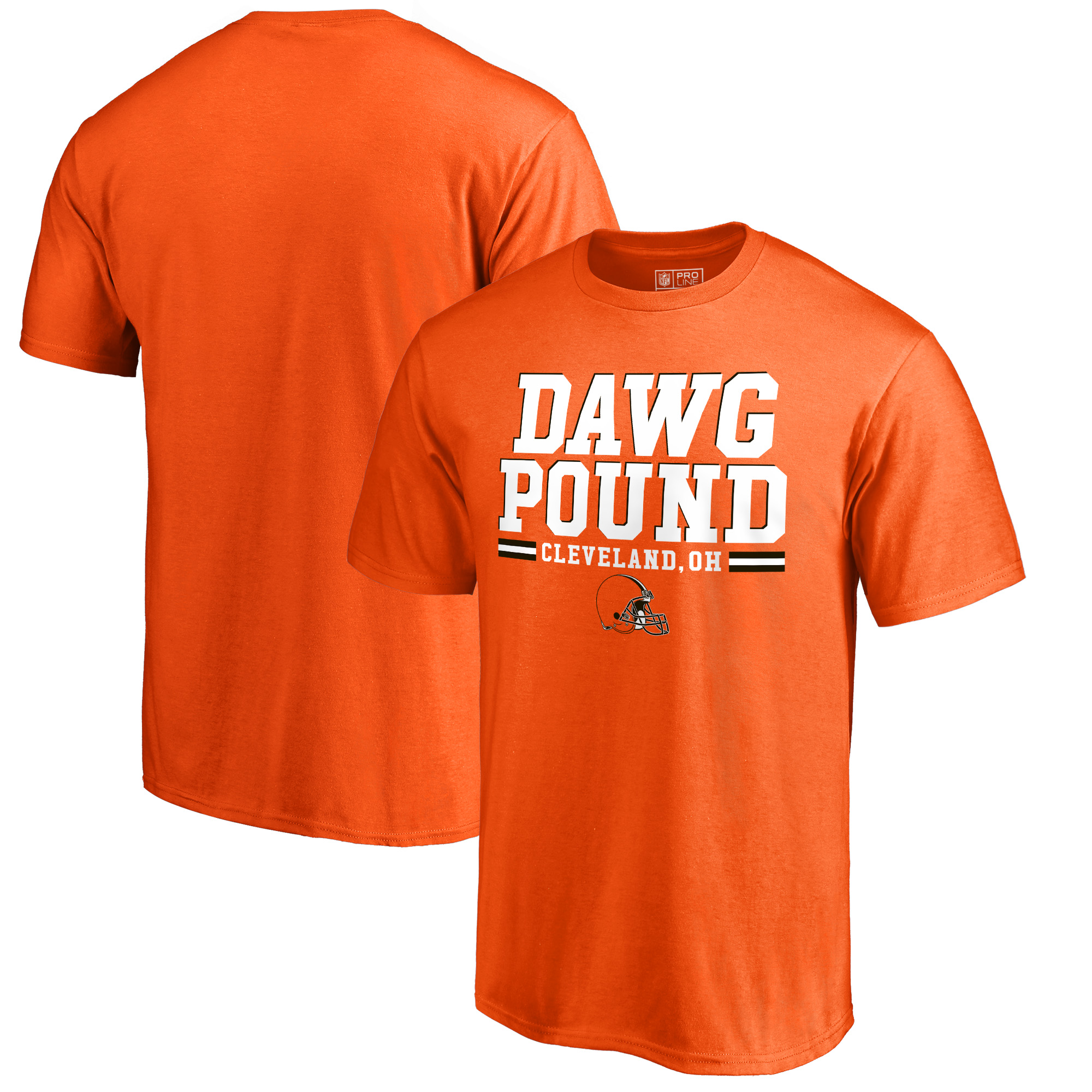 Cleveland Browns NFL Pro Line by Fanatics Branded Hometown Collection Dawg Pound T-Shirt - Orange