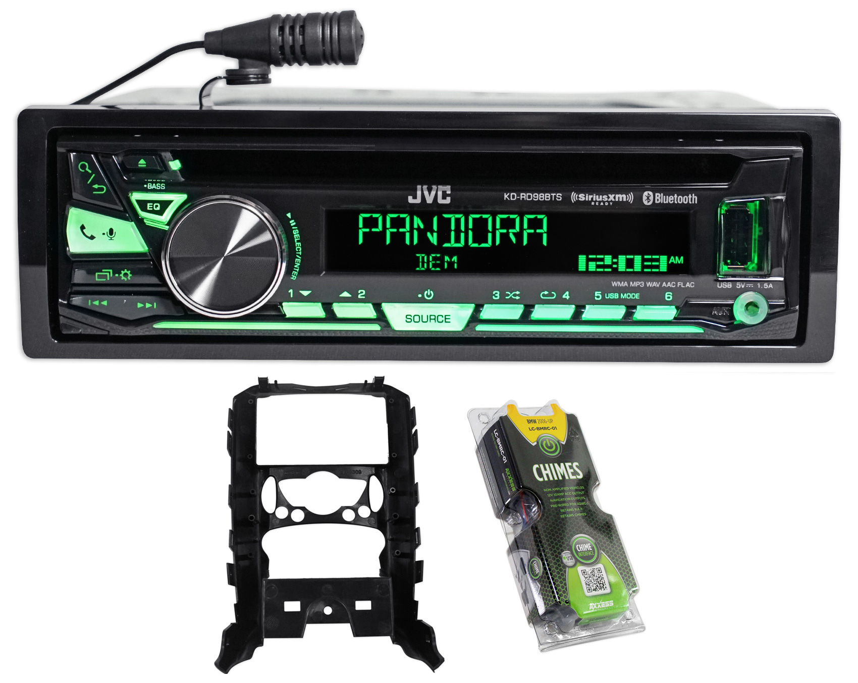 2007-2010 Mini Cooper JVC Stereo CD Player Receiver w  Bluetooth+USB+Sirius XM by JVC