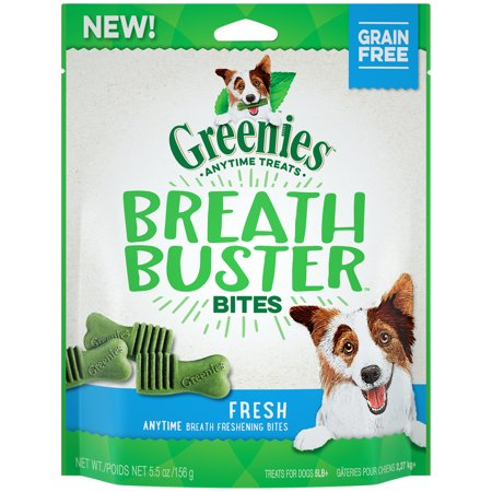 Greenies Breath Buster Bites Dog Treats, Fresh Flavor, 5.5 oz. Pack