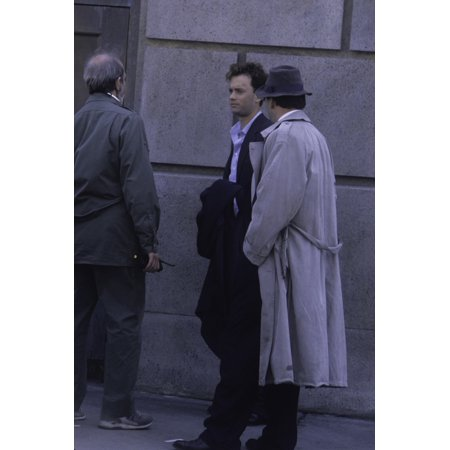 Tom Hanks And Bruce Willis On The Set Of The Bonfire Of The Vanities Photo Print