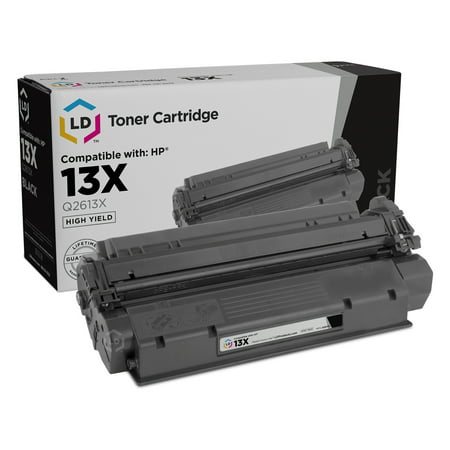 LD Remanufactured Replacement for HP 13X Q2613X High Yield Black Cartridge for use in HP LaserJet 1300, 1300n, 1300xi (Hp Q2613x)