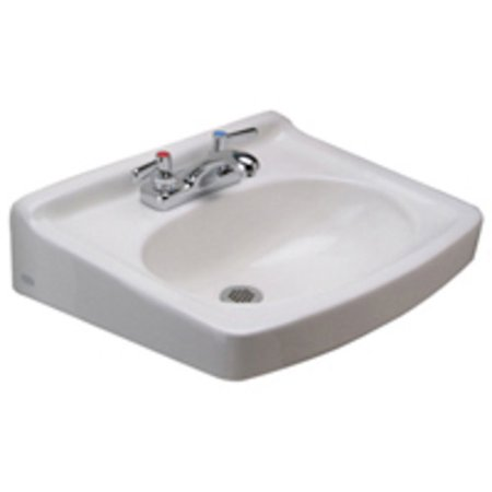 - Zurn Z5354 Z5350 Series 19-1/2in Wall Mounted Bathroom Sink with 3 Holes Drilled with Overflow