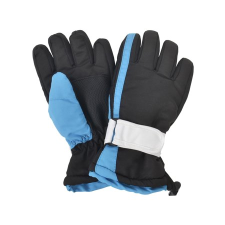 Simplicity Boys Kids Waterproof Thinsulate Colorblocked Snow Ski Gloves, M (Kids Ski Gloves Scott)