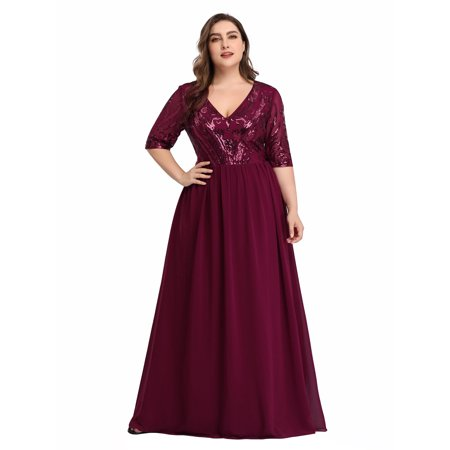 Ever-Pretty Women A-Line Chiffon Formal Evening Wedding Party Dresses for Women 07992 US16 Chiffon Formal Evening Dress