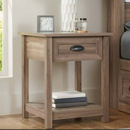 Better Homes & Gardens Lafayette Night Stand, Washed Oak Finish ()