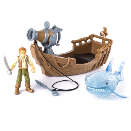 Pirates of the Caribbean® Spin Master Boat & Shark Action Figures