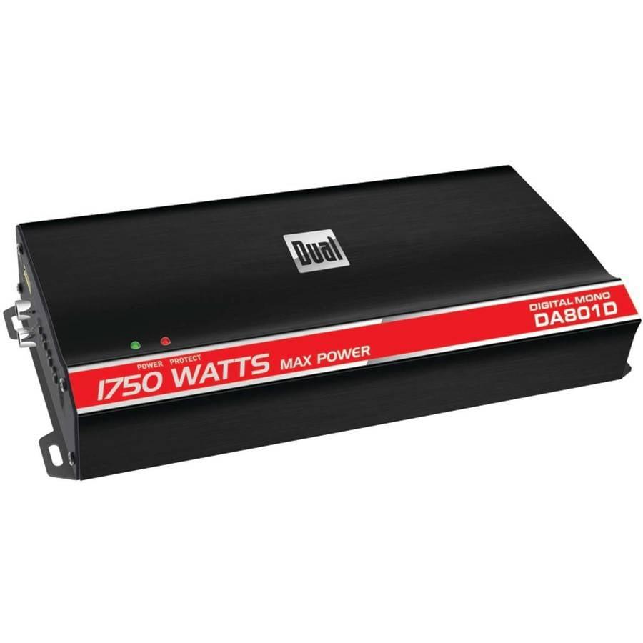 Dual Electronics DA801D Digital Compact Series Class D Amp, Monoblock, 1,750 Watts