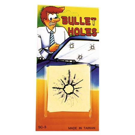 BULLET HOLES Fake - Bullet Hole In Head Halloween