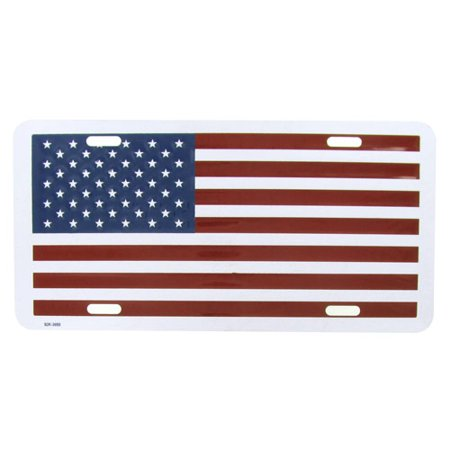 - American Flag License Plate