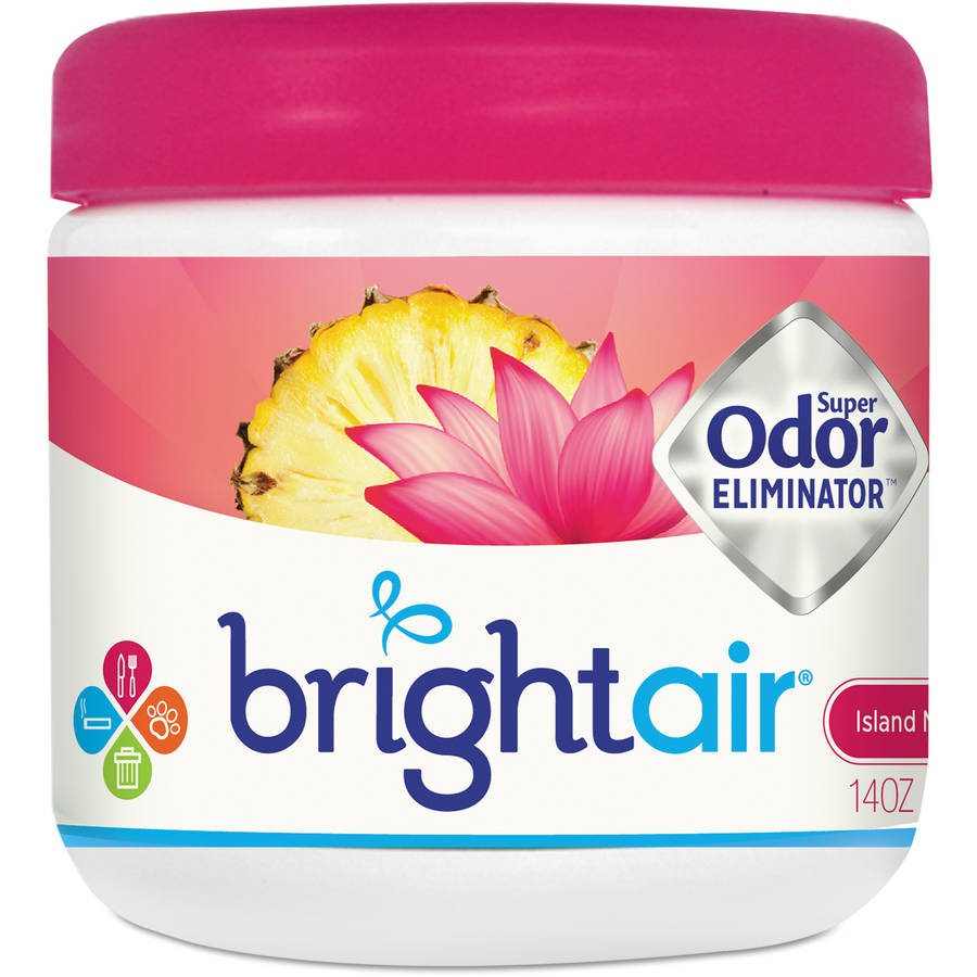 BRIGHT Air SuPer Odor Eliminator, Island Nectar and Pineapple, Pink, 14 Oz, 6 Per Carton
