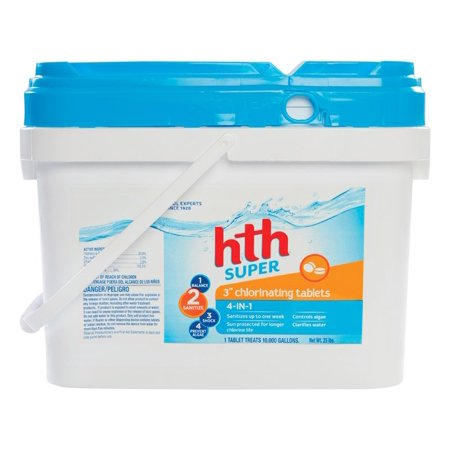 Hth 3 Inch Super Chlorinating Tablets 24 5 Lb Walmart Com