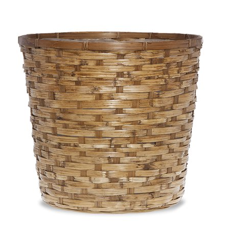 - Round Rattan Planter Basket 13in