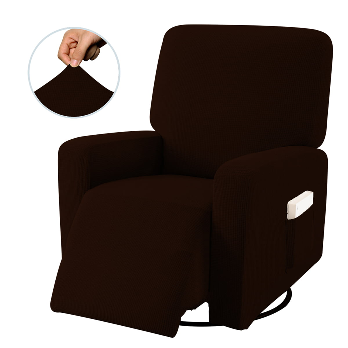 Waterproof Stretch Recliner Chair Slipcover Protector Sofa Cover w// Side Pocket