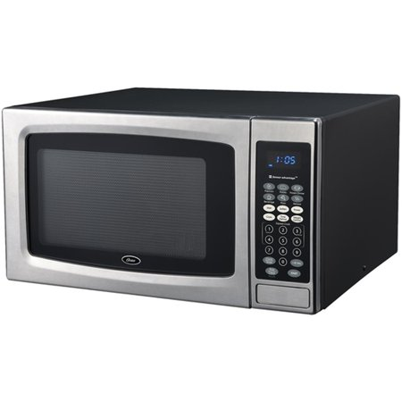 oster ogze1304s 1.3 cubic foot 1100 watt microwave oven with
