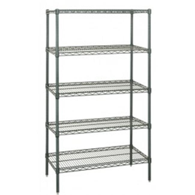 Quantum Storage WR74-3672P-5 Proform wire shelving starter unit - 36 x 72 x 74 in.
