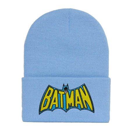 Original Batman Wing Logo Light Blue Cuffed (Original Beanie)