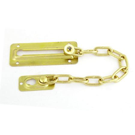 Interior Office Door (Gold Tone Metallic Security Chain Guard for Interior Office Home Door)