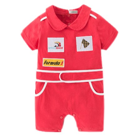 StylesILove Baby Boy Chic Red Car Racer Costume Romper (6-12 Months)](Baby Boy Christmas Costume)