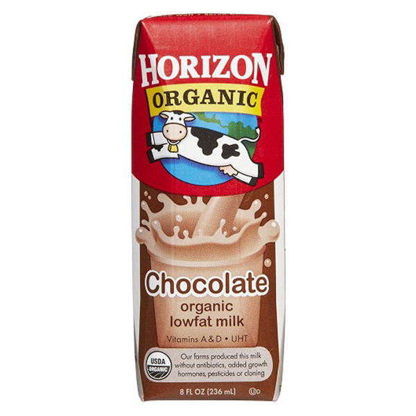 Horizon Organic Low Fat Chocolate Milk 8 Oz Cartons - Pack of 12