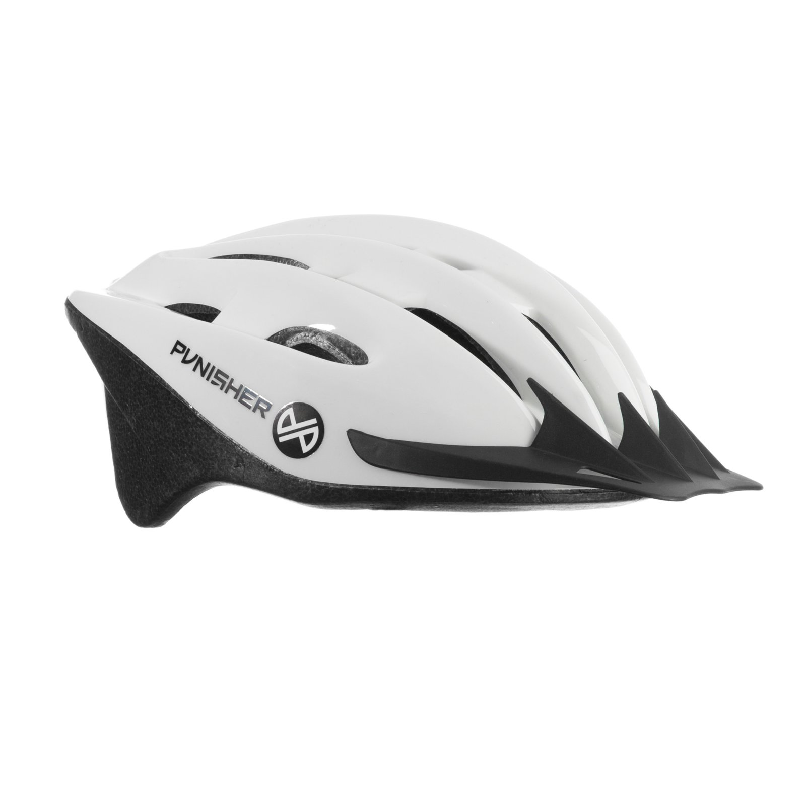 Punisher 18-Vent Adult Cycling Helmet with Imitation In-Mold, White, Ages 12+ by Punisher Skateboards